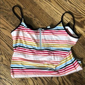 Express retro striped bodysuit